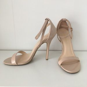 """4"""" Nude Strappy High Heel Sandals (SIZE 7)"""